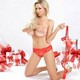 big tits, heels, sexy, Jordan Carver, gifts, red bra, christmas wallpaper