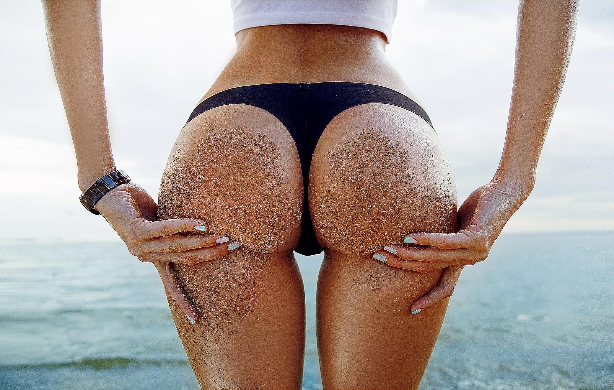 Download 2079x1323 ass, sand covered, hands on ass, sea