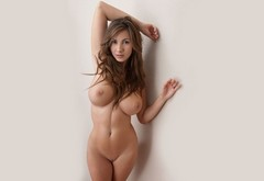 nude, big tits, women, conny lior, shaved, connie carter, white background, josephine model wallpaper