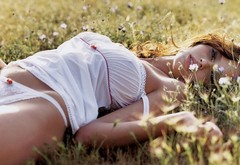 erotica, field, women wallpaper