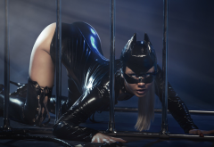 catwoman, model, latex, fetish, sexy ass, soggy style, boots, shiny wallpaper