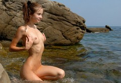 naked, babe, cute, malinka, shaved, anya, naturel wallpaper