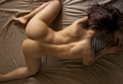 naked, doggy style, ass, sexy ass, brunette wallpaper