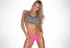 laura michelle prestin, model, fitness model, tanned, smiling, non nude wallpaper
