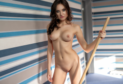 melanie, photodromm, brunette, naked, boobs, big tits, nipples, shaved pussy, pussy wallpaper