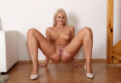 vinna reed, tanned, naked, casting, smiling, blonde, tits, boobs, shaved pussy, labia, pussy, spread legs, ass, anus wallpaper