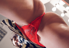 red panties, pov, panties, red lingerie, ass, lingerie, sexy wallpaper