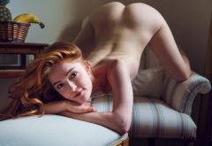 jia lissa, alex-lynn, redhead, ass, doggy, naked, sexy, smiling wallpaper