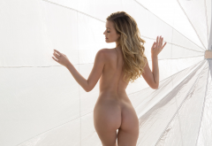 ass, naked, back, blonde wallpaper