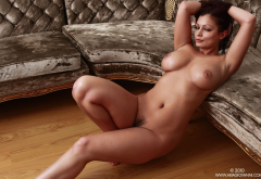 aria giovanno, naked, boobs, big tits, nipples, tanned, trimmed pussy wallpaper