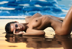 naked, wet, tits, boobs, nipples, sexy wallpaper