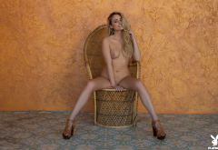 lindsay marie, playboy, naked, tits, nipples, blonde, model, tanned, shaved wallpaper