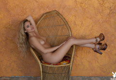 lindsay marie, playboy, naked, tits, nipples, blonde, model, tanned, legs wallpaper
