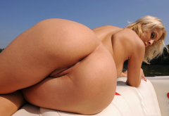 mandy dee, big ass, ass, tanned, pussy, labia, shaved pussy, blonde wallpaper
