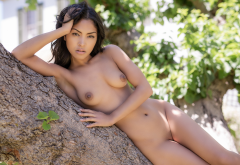 chloe rose, playboy, shaved pussy, tits, boobs, nipples, brunette wallpaper