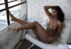 jahla, playboy, naked, tits, boobs, nipples, smiling, legs, feet, ebony wallpaper