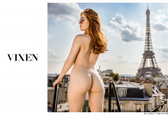 jia lissa, ass, naked, back, redhead, paris, france wallpaper
