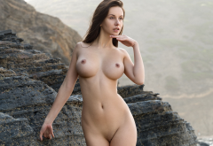 alisa i, jessica albanka, alisa amore, alisa, perfect, hot, boobs, big tits, brunette, shaved pussy, rocks, sexy wallpaper