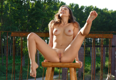 calypso, small pussy, smiling, young, labia, pussy, shaved pussy, boobs, tits, nipples, clean pussy, spread legs, closed eyes wallpaper